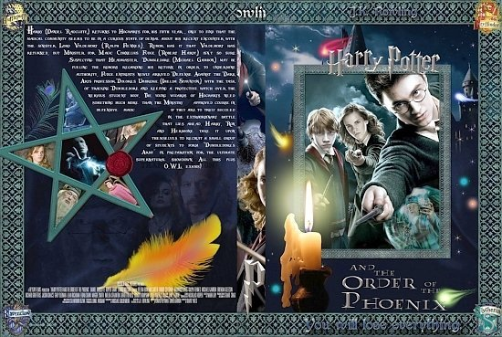 dvd cover Harry Potter And The Order Of The Phoenix