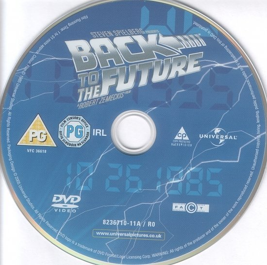 dvd cover Back To The Future (1985) R2