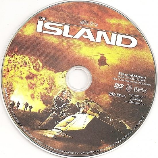 dvd cover The Island (2005) WS R1