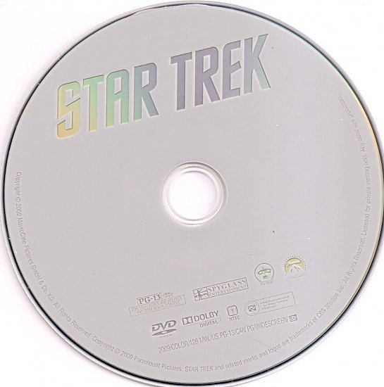 dvd cover Star Trek (2009) WS R1