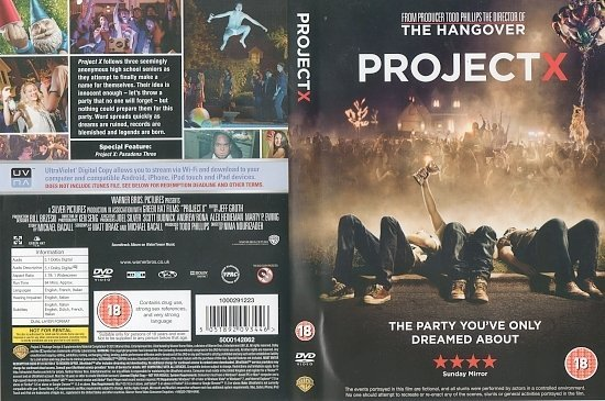dvd cover Project X ( ) R2