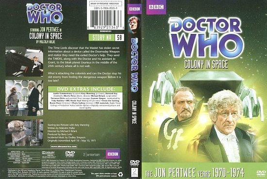 dvd cover Doctor Who Colony In Space