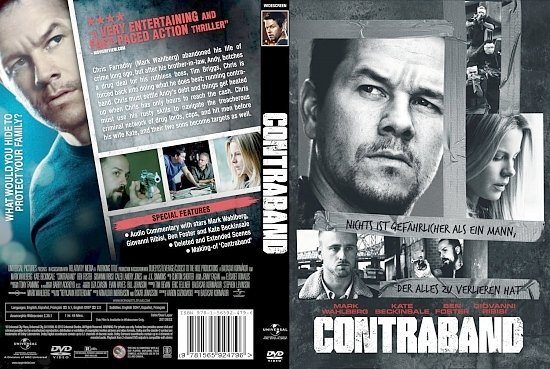 dvd cover Contraband (2012)