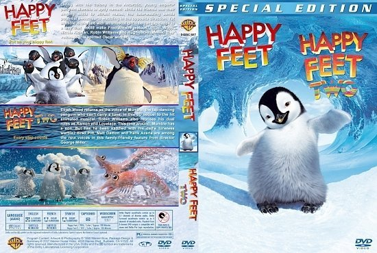 dvd cover Happy Feet Double Feature version 1