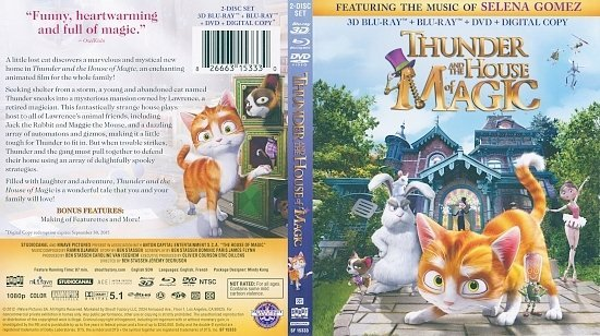 dvd cover Thunder and the House of Magic 3D Blu-Ray Cover