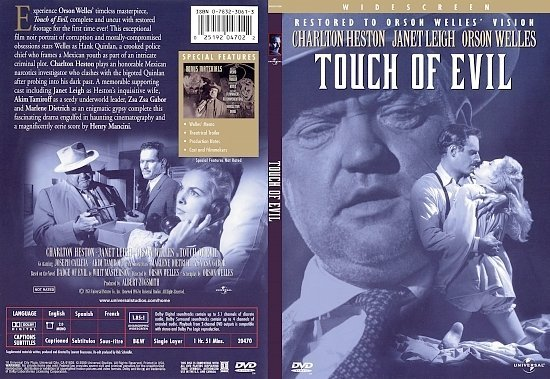 dvd cover Touch Of Evil (1958) WS R1