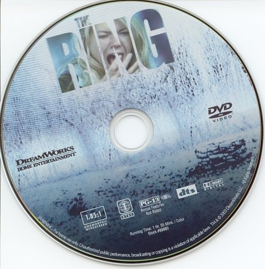 dvd cover The Ring (2002) WS R1