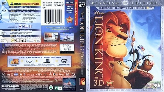 dvd cover The Lion King 3D (1994) Blu-Ray
