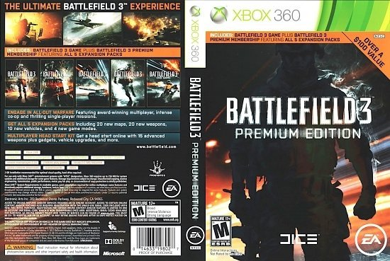 dvd cover Battlefield 3 Premium Edition
