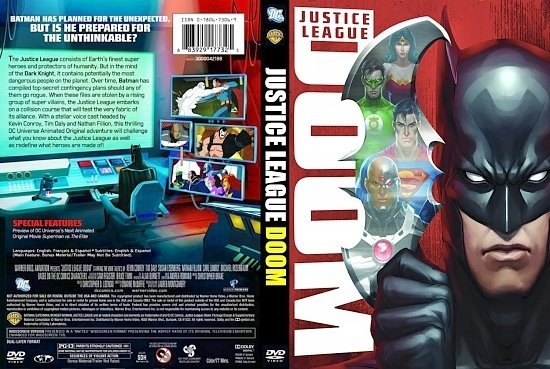 dvd cover Justice League Doom 1