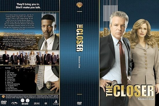dvd cover The Closer Season 1 1