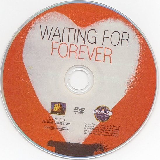 dvd cover Waiting for Forever (2010) WS R1