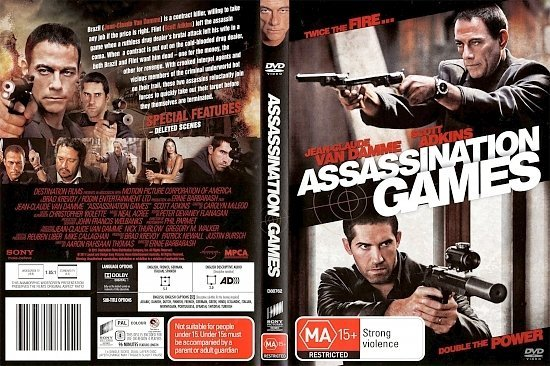 dvd cover Assassination Games (2011) WS R4