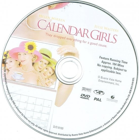 dvd cover Calendar Girls (2003) R4