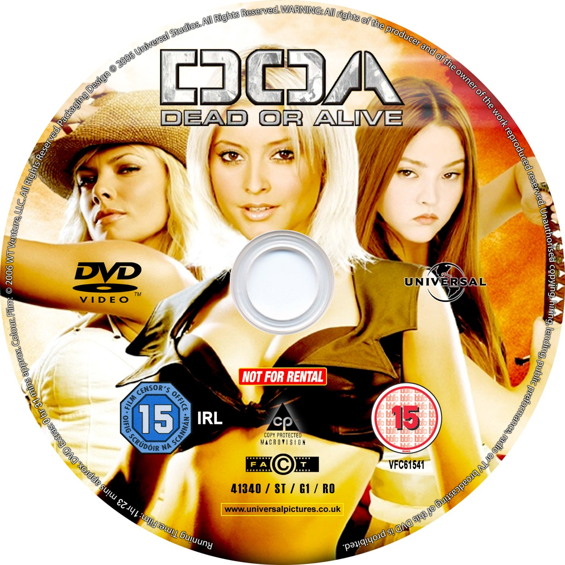 Doa Dead Or Alive 2006 R2 Dvd Covers And Labels