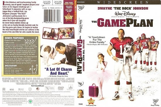 dvd cover The Game Plan (2007) WS R1