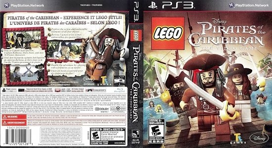 dvd cover Lego Pirates of Caribbean The Video Game English French NTSC f