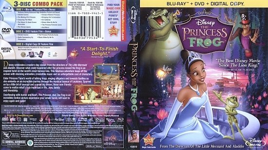 dvd cover The Princess and the Frog (2009) Blu-Ray