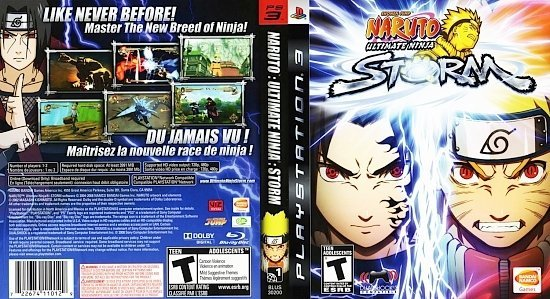 dvd cover Naruto Ultimate Ninja Storm English French NTSC f