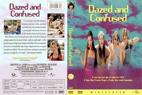 dvd cover Dazed And Confused (1993) WS R1