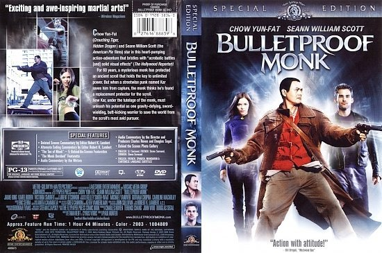 dvd cover Bulletproof Monk (2003) SE R1