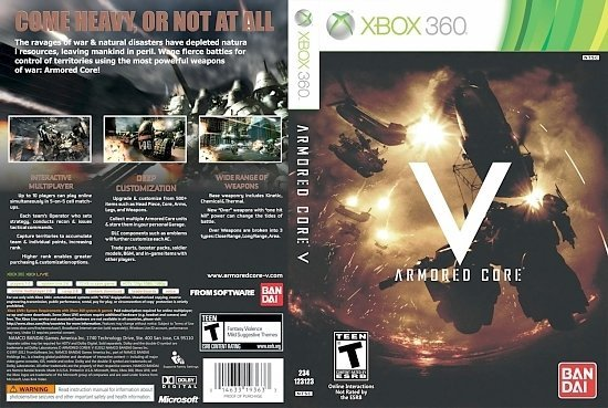 dvd cover Armored Core V NTSC f
