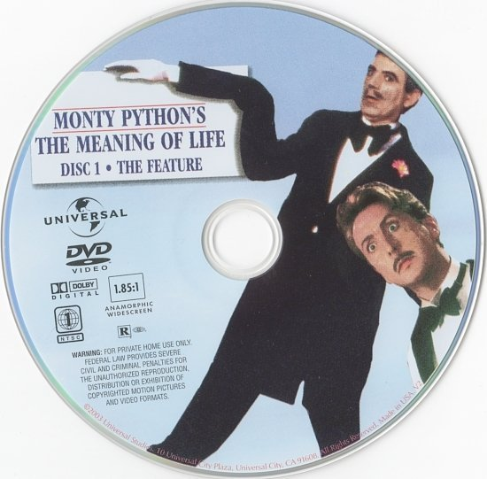 dvd cover Monty Python's The Meaning of Life (1983) R1