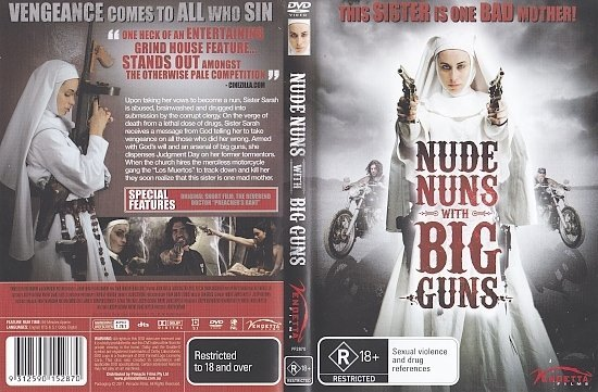 dvd cover Nude Nuns With Big Guns (2010) R4