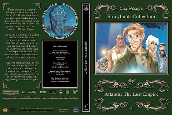 dvd cover Atlantis: The Lost Empire