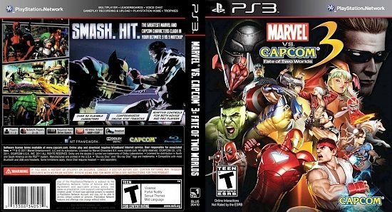 dvd cover Marvel vs Capcom 3 Fate of Two Worlds NTSC f1