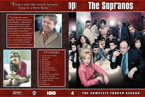 dvd cover Sopranos 4