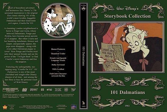 dvd cover One Hundred And One Dalmations 1999