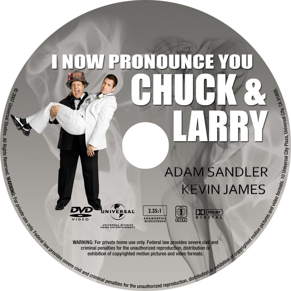 I Now Pronounce You Chuck And Larry 2007 Ws R1 Dvd Covers And Labels