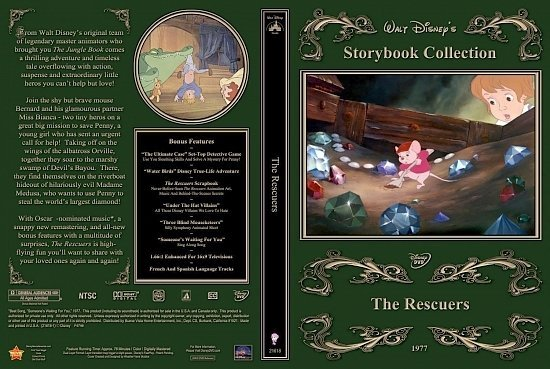 dvd cover The Rescuers