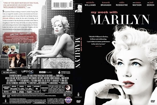 dvd cover My Week with Marilyn