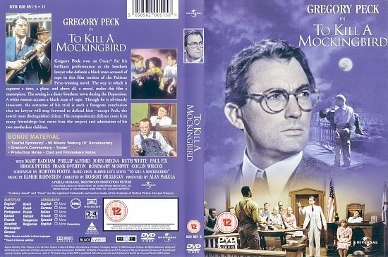 dvd cover To Kill A Mockingbird (1962) FS R2