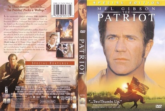 dvd cover The Patriot (2000) WS SE R1