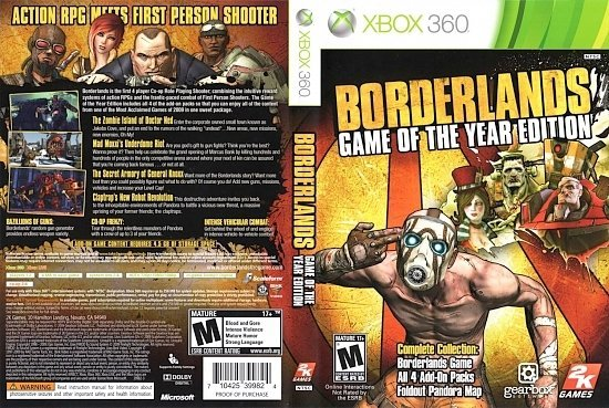 dvd cover Borderlands Game of the Year Edition NTSC f