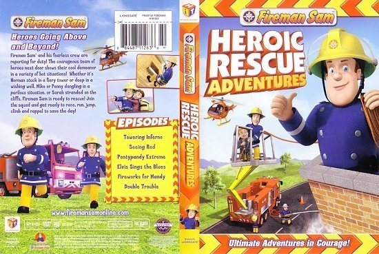 dvd cover Heroic Rescue Adventures