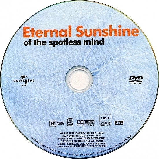dvd cover Eternal Sunshine Of The Spotless Mind (2004) WS R1