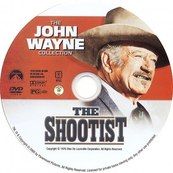 dvd cover The Shootist (1976) WS R1