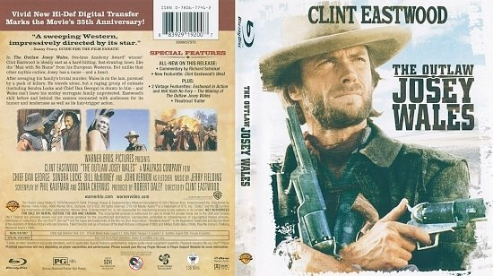 dvd cover The Outlaw Josey Wales (1976) Blu-Ray