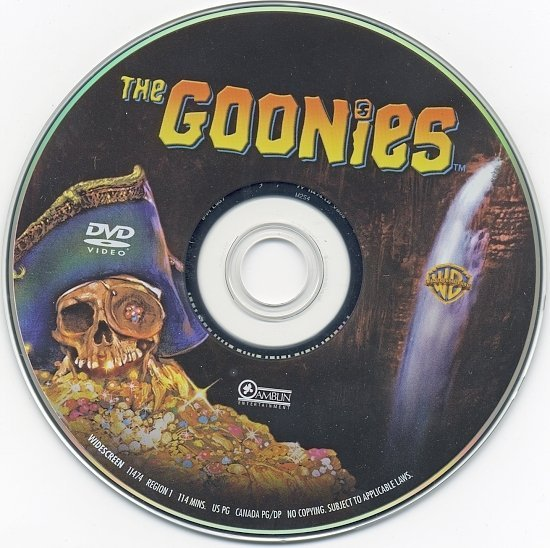 dvd cover The Goonies (1985) R1