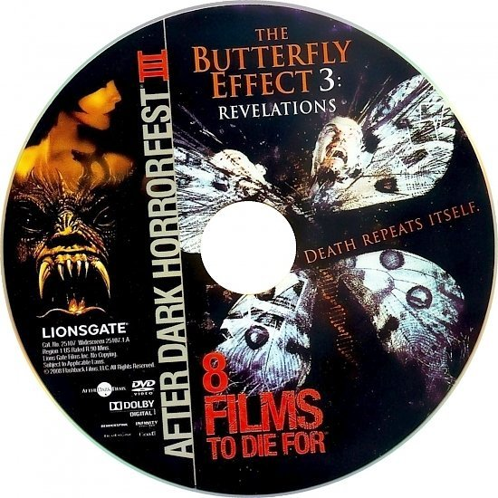dvd cover The Butterfly Effect 3: Revelations (2009) WS R1