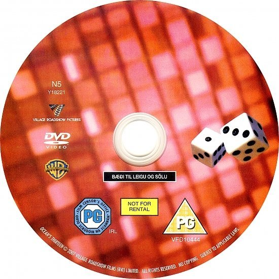 dvd cover Ocean's Thirteen (2007) WS R2