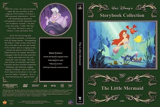 dvd cover The Little Mermaid