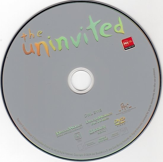 dvd cover The Uninvited (2009) WS R4