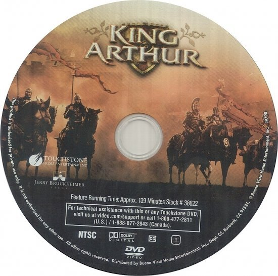 dvd cover King Arthur (2004) R1