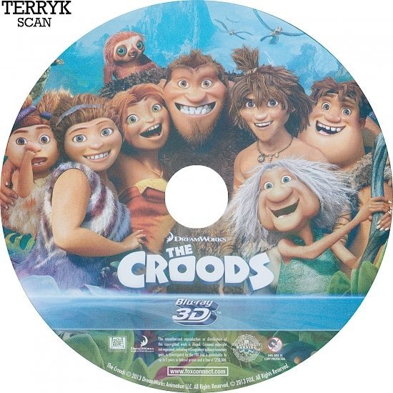 dvd cover The Croods 3D Blu-Ray DVD Label