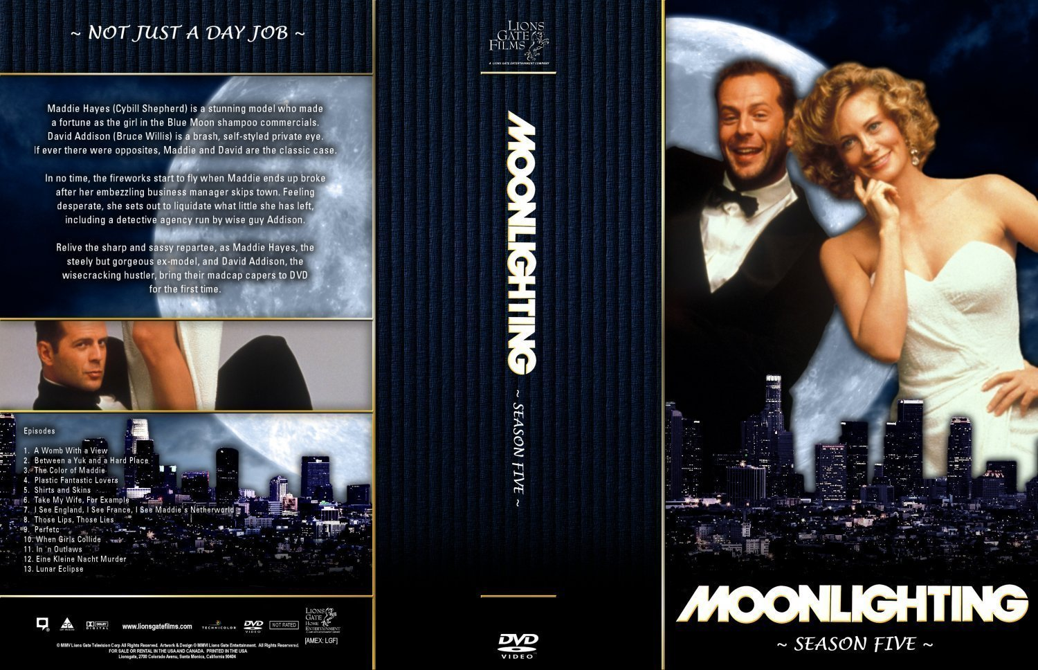 moonlighting season large dvd covers and labels moonlighting season 5 large